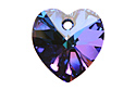 6228 подвеска Heart 14mm - Heliotrope (001HEL)