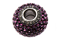 80101 BeCharmed Pave Bead — Amethyst (#204)