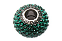 80101 BeCharmed Pave Bead — Emerald (#205)