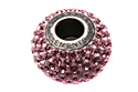 80101 BeCharmed Pave Bead — Light rose (#223)