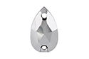 3230 Drop Sew-on Stone 12х7 мм - Light Chrome (001LTCH)