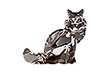 4030 Maine Coon Cat Fancy Stone 20,5x17,6 мм - Black Diamond (#215)