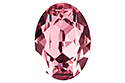 4120 Oval Fancy Stone 18х13 мм - Light Rose (#223)