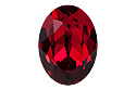 4120 Oval Fancy Stone 18х13 мм - Scarlet (#276)