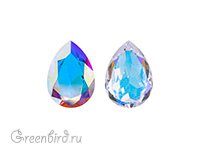 4320 Pear Rhinestone 8х6 мм - Crystal AB Unfoiled (#001AB-UNF)