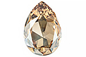 4327 Pear Flat 30х20 мм - Golden Shadow (#001GSHA)