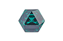 4699 Kaleidoscope Hexagon 14x16 мм - Emerald (#205)