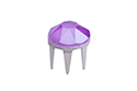 53302 Заклепка Rose Pins SS16 (3.9мм) - Crystal Electric Violet (#001L148S)