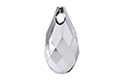 6010 подвеска Briolette Pendant 11x5,5mm - Light Chrome (#001LTCH)