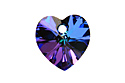 6228 подвеска Heart 10mm - Heliotrope (#001HEL)