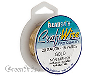 Проволока Craft Wire 28 Ga Gold (CW28R-GL-15)