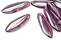 Glass Daggers 5x16mm, Amethyst Argent Flare Full, 1 шт. (#20060/24203)