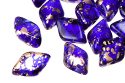 GemDuo 8x5mm - Gold Splash Cobalt, 5 гр (#30090/94401)