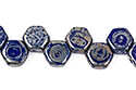 Honeycomb bead 6mm, Royal Blue Picasso, 30 шт. (#33050/43400)