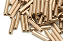 Bugle Beads 12mm, Bronze Pale Gold (#01710)