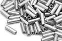 Bugle Beads 7mm, Aluminium (#01700)