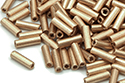 Bugle Beads 7mm, Bronze Pale Gold (#01710)