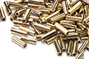 Bugle Beads 7mm, Full Amber/Gold (#26443)