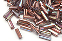 Bugle Beads 7mm, Crystal Rainbow Copper (#98533)