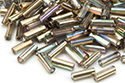Bugle Beads 7mm, Crystal Rainbow Gold (#98536)