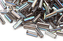 Bugle Beads 7mm, Crystal Rainbow Graphite (#98537)