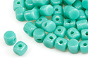 Minos® par Puca® 2,5x3 мм, Opaque Green Turquoise, 5 гр (#63130)