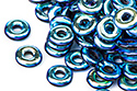 O bead 1x4mm, Jet/Full AB, 5 гр. (#23980/28703)