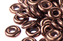 O bead 1x4mm,Jet/Bronze, 5 гр. (#23980/14415)