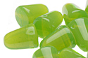 Gum Drops 7,5x10mm, Milky Dark Peridot (#51010)