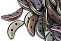Crescent 3x10mm, Matte Metallic Leather, 5 гр (#K0167)