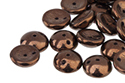 Piggy beads 4x8mm, Jet/Bronze Luster, 10 гр (#23980/14415)