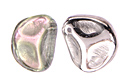 Rose Petals 14x13mm, Silver Rainbow, 1 шт. (#00030/98530)