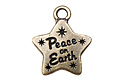 "Подвеска ""Peace on Earth"", ант. латунь, 1 шт. (#TC-2374)"