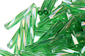 MIYUKI Twisted Bugle 12mm - Transparent Green (#179)
